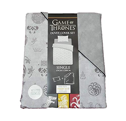 Primark Home GAME OF THRONES Reversible Single Duvet Cover Set with Piped Pillowcase 135cm x 200cm
