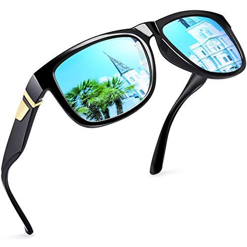 Joopin Gafas de Sol Hombre Polarizadas con Protección UV Clásicas Retro Gafas de Sol Vintage Mujer para Conducir y Deportes al Aire Libre Azul
