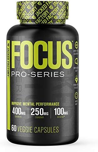 Pro Series Focus Nootropic Brain Booster Supplement w Cognizin SerinAid Phosphatidylserine Caffeine product image