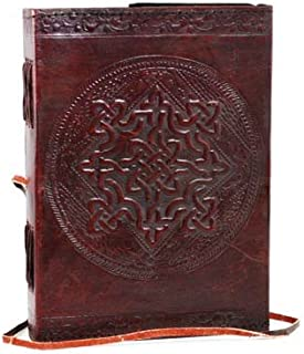 leather journals christmas gift Handmade Traditional Genuine Leather Cover Personal Plain Journal Diary Notebook For Business Work black friday & cyber monday gifts (D)
