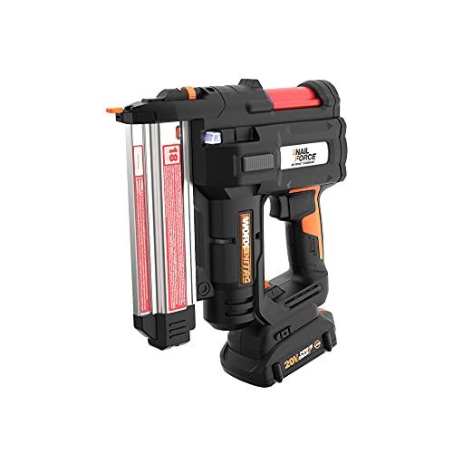 Worx WX840L 20V Power Share Cordless 18 Gauge Nail & Staple Gun