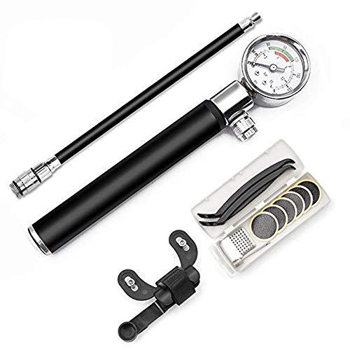Alious Ciel - Bombas de Bicicleta con manómetro, Mini Bomba de Bola portátil para Bicicleta de montaña BMX Bicicleta de Carretera, Set B