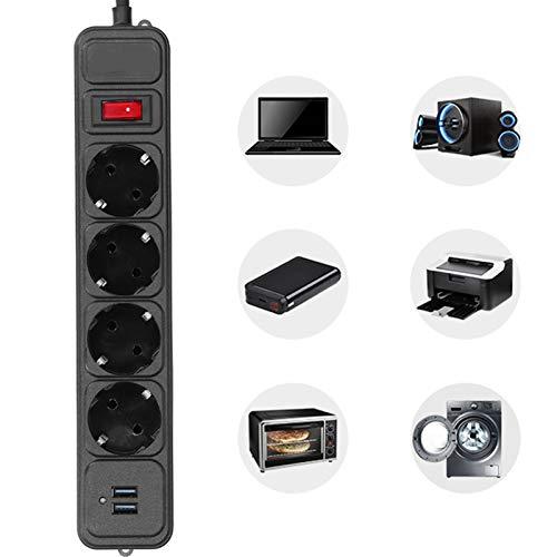 Enchufe USB, enchufe de baja resistencia con 2 puertos de carga USB para pared de oficina en casa o escritorio para familia