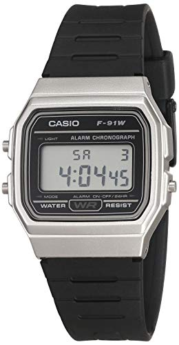 Casio Men's Classic Quartz Watch with Resin Strap, Black, 18 (Model: F-91WM-7ACF)