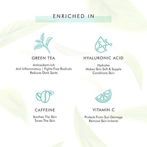 mCaffeine Naked Detox Green Tea Face Serum | Hydration| Vitamin C, Hyaluronic Acid | All Skin | Paraben & Mineral Oil Free | 40 ml