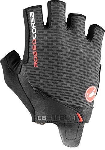 CASTELLI Rosso Corsa Pro V Glove - Guantes de ciclismo para hombre, Hombre, Guantes de ciclismo, 4521024-030, Dark Gray, X-Large