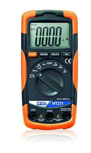 HT-Instruments Compatto multimetro digitale con funzione di misurazione temperatura, ht211