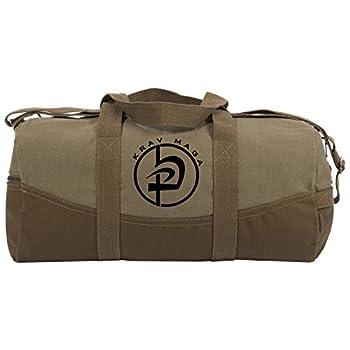 """Krav Maga Two Tone 19"""" Duffle Bag with Brown Bottom and Detachable Strap"""