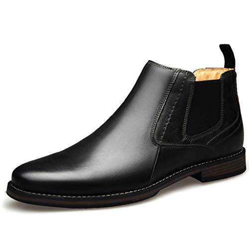 WERT Chelsea Boots heren lederen dealer boot mode beitel toe boot waterdicht handgemaakte elastische band Martin Boots High Top