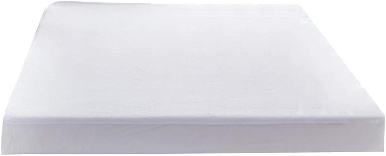ZHAOHUI Mattress Predector Cotton Breathable Waterproof Hypoallergenic Noiseless Total Encasement Antibacterial Soft Skin-Friendly, 2 colors, 3 Sizes (color   White-150 x 200 cm)