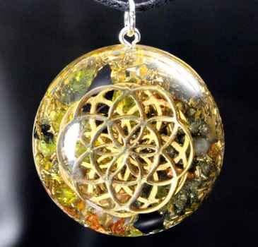Orgonit Amulett Saat des Lebens zweifach