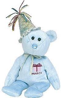 f215a3ea7ec Ty Beanie Baby March Teddy Happy Birthday Bear w Hat