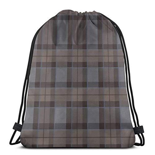 Outlander Fraser Tartan Plaid Shopping Sport Drawstring Bags Gym Bag