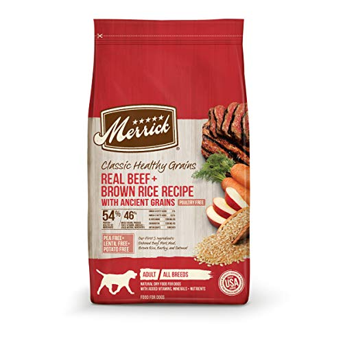 Merrick Classic Healthy Grains Dry Dog Food Real Beef + Brown Rice Recipe with Ancient Grains - 4.0 lb Bag