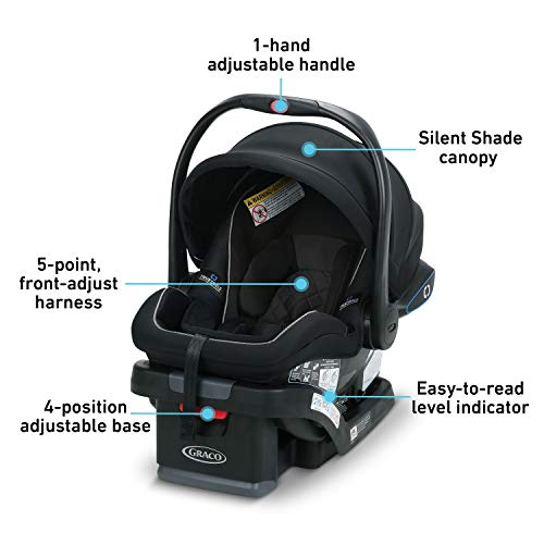 Graco SnugRide SnugLock 35 LX Infant Car Seat, Baby Car Seat Featuring TrueShield Side Impact Technology