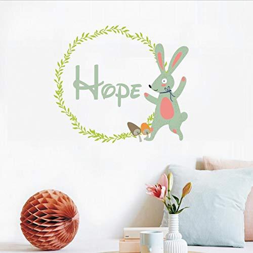 SHQBZPYS 3D DIY wandtattoo slinger konijntje kinderkamer afneembaar