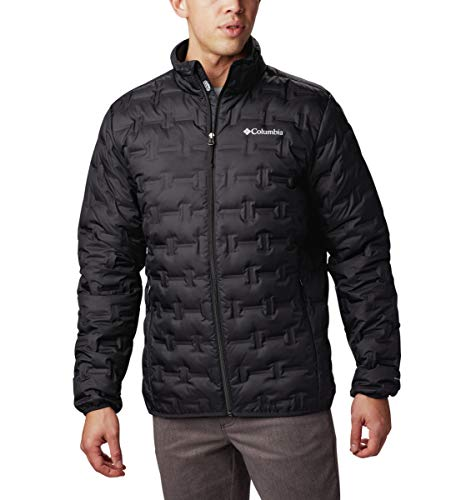 Columbia Men's Delta Ridge Down Winter Jacket, Insulated, Water repellent, Small, Black