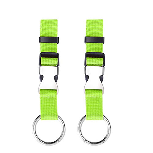 Pack of 2 Add-A-Bag Luggage Strap Jacket Gripper, Luggage Straps Baggage Suitcase Straps Belts Travel Accessories, Green