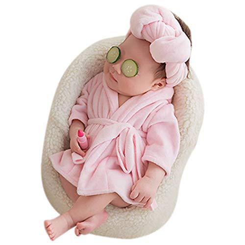 ZOYLINK Baby Fotoausstattung Bademantel Warme Kostüm Fotografie Prop für Neugeborene