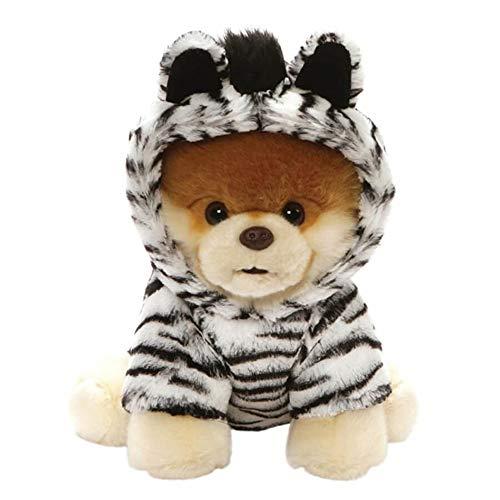 GUND Worlds Cutest Dog Boo Zebra Outfit Plush Stuffed Animal 9, Multicolor (4061293)