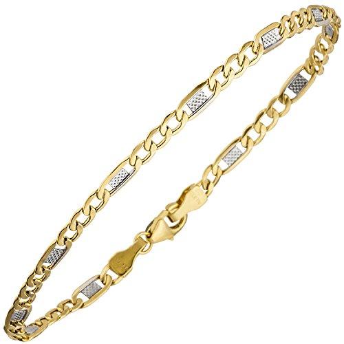 JOBO Damen-Armband aus 333 Gold Bicolor 19 cm