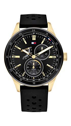 Tommy Hilfiger Reloj analógico para Hombre. de Cuarzo con Correa en Silicona 1791636