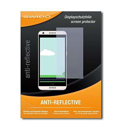 SWIDO Schutzfolie für HTC Desire 650 [2 Stück] Anti-Reflex MATT Entspiegelnd, Hoher Festigkeitgrad, Schutz vor Kratzer/Bildschirmschutz, Bildschirmschutzfolie, Panzerglas-Folie