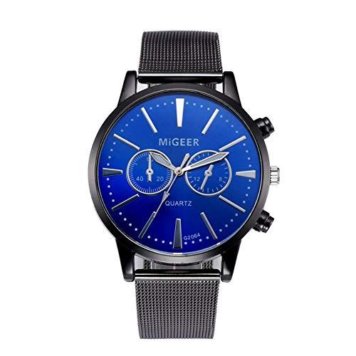 Eotifys Reloj Relojes Hombre Reloj de Pulsera Correa de Acero Reloj de Cuarzo Reloj de Negocios Informal