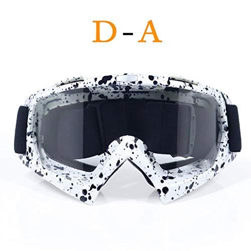 fish AdultMotocross Brille Motorradbrille Brille ATV Klare Linse Ski Helm Brille Offroad für Kawasaki Oculos Gafas, A1