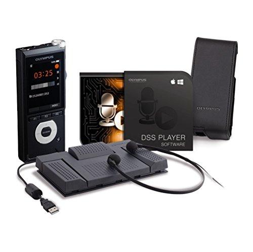 Olympus DS-2600 Diktiergerät inkl. Transkriptionskit AS-2400, DSS Player Standard-Lizenz (Mac & PC), LI-92B Lithium-Ionen-Akku, KP30 Micro-USB-Kabel, CS151