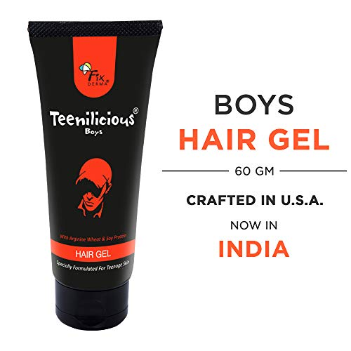 Teenilicious Hair Gel for Men and Boys With Soy Protein For Strong Hold & Keratin For Strength, 60 gms