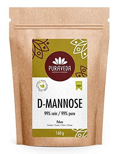 D-mannosio in polvere - 160g - made in germany - vegano, e naturale - per allergici - confezionato è controllato in Germania (DE-eco-005)
