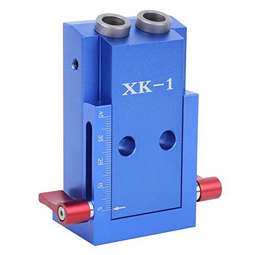 Fafeicy Kit de localizador de orificios para carpintería de 27 piezas, localizador de orificios oblicuos, guías de localización de orificios inclinados, resistente al desgaste, rosca de metal