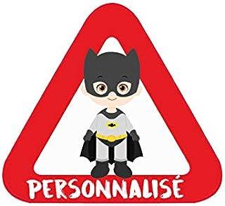 OIBHFO Home Batman de Bande dessin/ée Enfants /à Bord des Autocollants de Voiture Enfants dans la Voiture