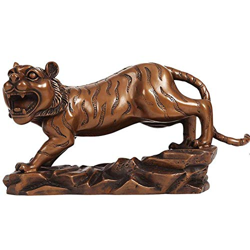 Tiger Collector Animal Decoration Figure Statue, Gifts & Decor Animal Sculpture Bronze 5.5 Inch, Home Decoration