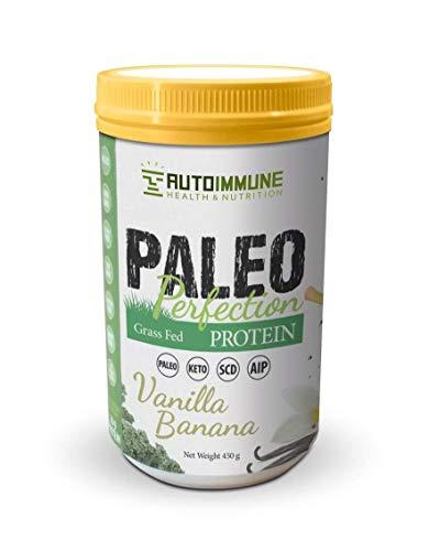 Autoimmune Health - Paleo AIP Protein Powder | Grass-fed Beef Collagen | Vanilla Banana Flavor | 1 Pound 30 Servings (w/stevia)