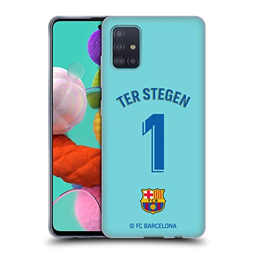 Head Case Designs Offizielle FC Barcelona TER Stegen 2019/20 Spieler Home Kit Gruppe 1 Soft Gel Huelle kompatibel mit Samsung Galaxy A51 (2019)