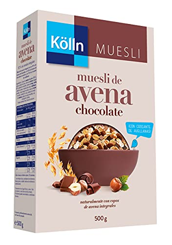 Kölln - Muesli de Avena con Chocolate y Avellanas, Cereales