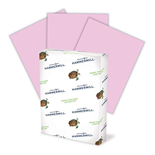 Hammermill Colored Paper, 20 lb Lilac Printer Paper, 8.5 x 11-1 Ream (500 Sheets) - Made in the USA, Pastel Paper, 102269C