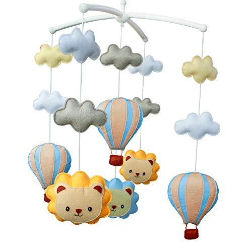 [Lion mignon, montgolfière] musical lit bébé portable lit rotatif cloche