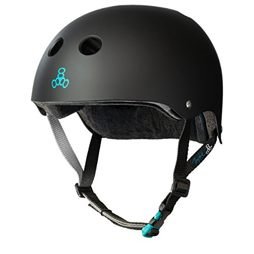 Fantastic Deal! Triple Eight Tony Hawk Signature Model The Certified Sweatsaver Helmet for Skateboarding, BMX, and Roller Skating, Large/X-Large, Black (3620)