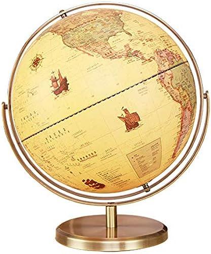 DMMW Desktop-Globus 32cm Desktop Globe - P gogisch Geographisch Modern Desktop Dekoration Wohnzimmer   Büro Desktop Dekoration   Kreativit