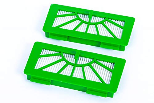 2 hochwertige Hepa Filter passend für Vorwerk Kobold Roboter Saugroboter VR100 und Neato XV11, XV12, XV15, XV25 - Top Hepafilter mit hoher Filterklasse - Allergiefilter