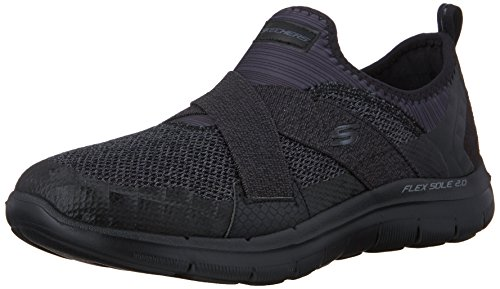 Skechers Flex Appeal 2.0new Image, Zapatillas para Mujer, Negro (Bbk), 35 EU