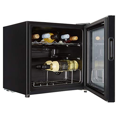 Cookology CWC14BK 14 Bottle wine cooler, under counter design, perfect for fitted kitchens. 48cm wide and 43L of cooling space, cools down to 5oC.