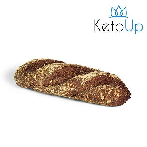 KetoUp: 3 frische Low Carb Röstzwiebelbaguettes | Ketogene und Low Carb Ernährung | maximal 3% Kohlenhydrate - 3 x 320g | Versandkostenfreie Lieferung in Deutschland ab Bestellwert von 25€