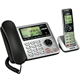 VTech CS6649 Expandable Corded/Cordless Phone System with Answering System-Caller ID/Call Waiting and Handset/Base Speakerphones (Renewed)