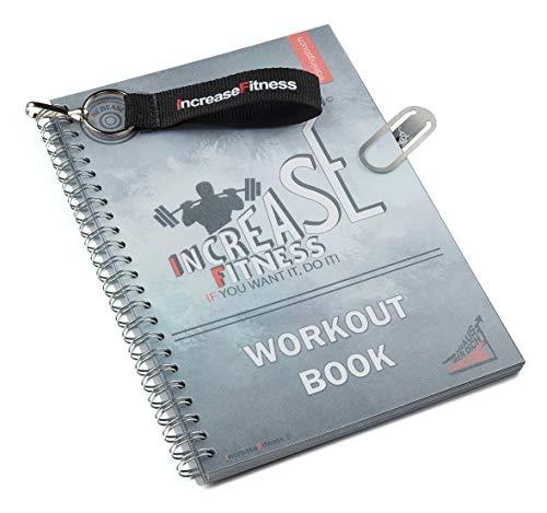 IncreaseFitness© Trainingsbuch | Fitness Tagebuch | Trainingstagebuch fürs Gym, Fitnessstudio, Krafttraining | DIN A5 | Erfolgskontrolle sowie Trainings- und Ernährungstipps