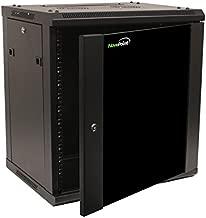 NavePoint 12U Wall Mount Network Server 19 Inch IT Cabinet Rack Enclosure Glass Door Lock