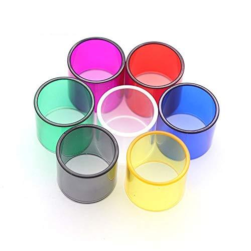 LITAO-CIG, 7 Teile/Paket Ersatzglasrohr for Goblin Mini V1 V2 V3 / Micro TFV4 2,5 Ml/Petri Tank 22 / Reuleaux RX75 / Melo 3 Mini,Frei von Tabak und Nikotin